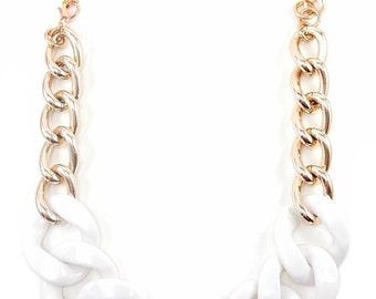 Rose Gold Statement Necklace chunky necklace statement jewelry bracelet VOGUE