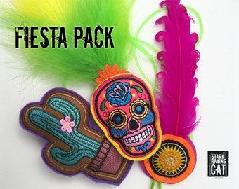 Fiesta Pack: Catnip Cat Toys (Sugar Skull, Cactus, Party Favor)