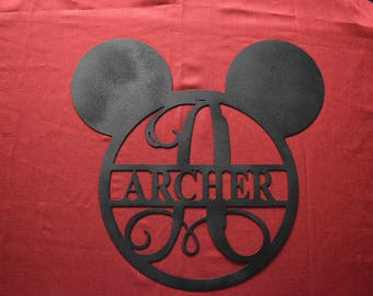 "Disney Metal Sign 15""x16"" / Disney Wedding Gift /  Nursery / Wedding Gift / Custom Family Last Name Metal Sign / Kids Room disney sign"