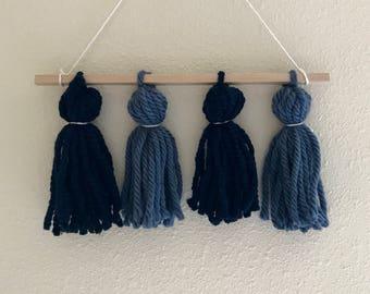 Blue tassels