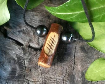 Ogham Birth Pendants – Elder - Wood – Ogham – Pendant – Necklace – Druid -  Pagan – Celtic – Witchcraft – Gift for Men – Gift for Women