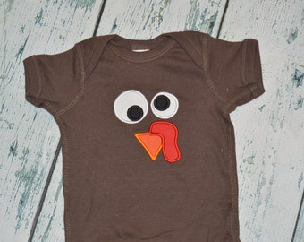 Turkey Short Sleeve Bodysuit CLEARANCE 18 Month, Ready to Ship Thanksgiving