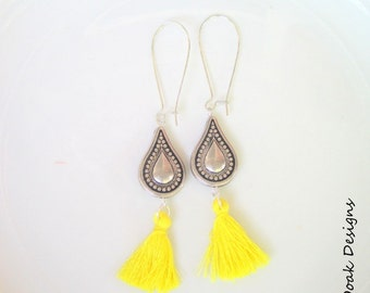 Tassel Earrings, Long Tassel earrings, Summer Tassel Earrings,Long Earrings,Boho Earrings,Bohemian Earrings,Fringe Earrings,Bridal Jewelry,