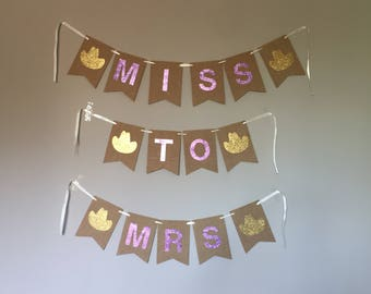 Miss To Mrs rodeo hat banner