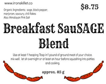 Make your own Breakfast Sausage - organic breakfast sausage spices - DIY breakfast sausage