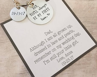 Father of the Bride Gift from Daughter - Bride Gift to Dad - Father of the Bride Gift - Father of the Bride Keychain