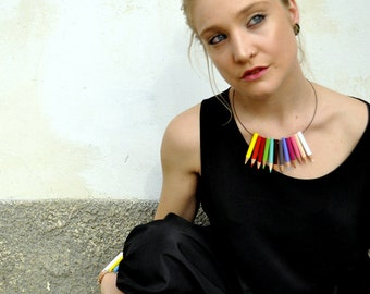 Colored pencil necklace