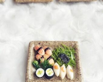 Miniature Japanese Sushi,Miniature Sushi Set,Miniature Japanese food,Sushi box set,Dollhouse Japanese food,Dollhouse,Miniature food