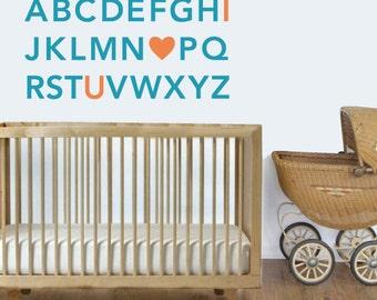 Alphabet Wall Decals - Custom Nursery Wall Decals