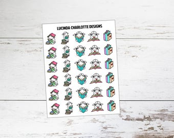 Book Addict | Miki Character | Planner Stickers
