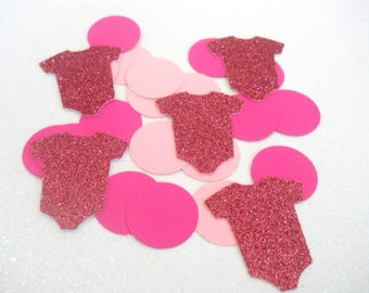 225 It's A Girl Confetti, Girl Baby Shower Decorations,  Baby Bodysuit Decor, Girl Sprinkle Decorations, Sip and See Decorations, Pink Dots