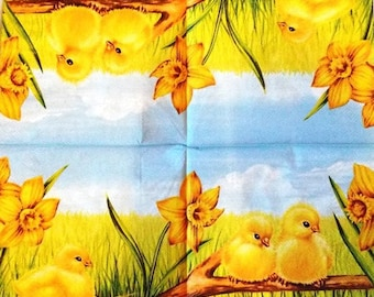 TOWEL in beautiful paper chicks #AN068