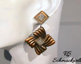 Copper earrings, Stud Earrings copper, knot earrings, square earrings, pendant earrings, crystal earrings, vintage earrings, gift