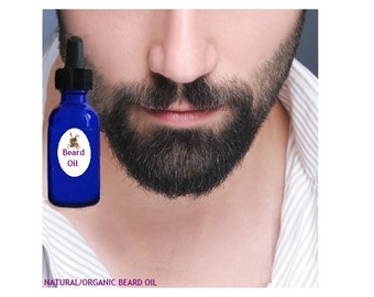 2 oz  Organic POWERFUL BEARD GROWTH Oil; Thickening Serum! Most Potent Organic Oils and Essential Oils ! Thickener! Essential Oils!