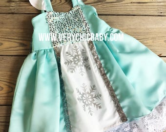 Frozen Elsa Dress, Elsa Costume, Elsa Costume, Frozen Elsa Costume, Frozen Elsa Dress, Princess Elsa Dress Everyday Vacation Princess Dress