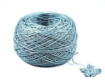 Crochet Thread 3 Ply Linen Thread Sea Foam Linen Yarn Natural Fiber Tatting Thread Specialty Thread