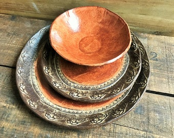Wild Buffalo Dinnerware Set Native American Dinner & Salad