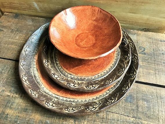 Wild Buffalo Dinnerware Set Native American Southwestern