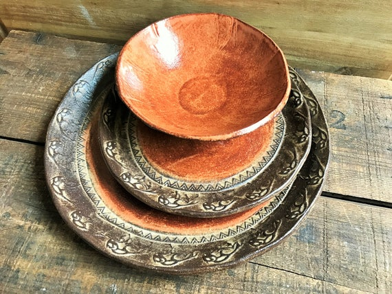 & Wild Buffalo Dinnerware Set Native American Southwestern