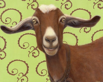 Goat Print - Goat Art for the Goat Lover - Funny Animal Art - Proceeds Benefit Animal Charity
