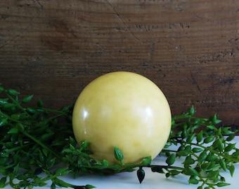 Vintage phenolic billiard cue ball, 2 1/4 inch pool ball