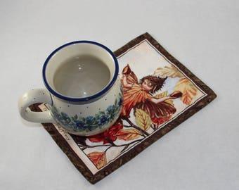 Flower Fairy Mug Rug - The Beechnut Fairy