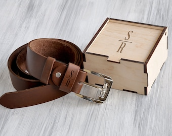 Personalized Leather Belt 3rd Anniversary Gifts for Men Custom Gift for Him Fathers Day Gift for Dad Birthday Gift Mens Personalized Gift