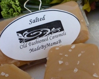 Sea Salt Caramels ~ Box of 32 extra creamy, old fashioned, Salted homemade caramels