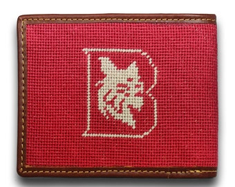 Bates College Needlepoint Wallet