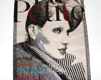 1 coupon fabric sewn patchwork fashion magazine character 15 x 20 cm