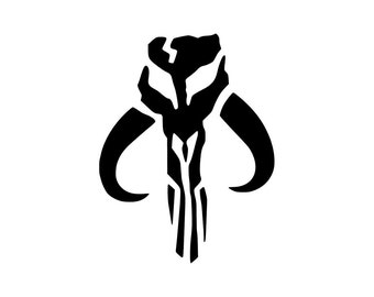 Mandalorian insignia from 'Star Wars'  Vinyl Sticker