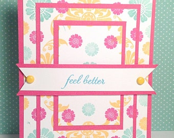 Bright Floral Get Well Card