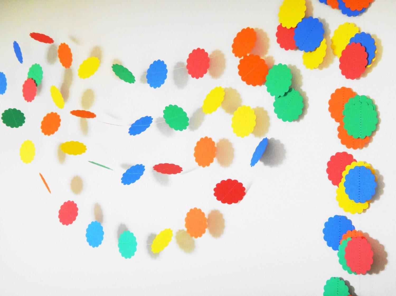 Rainbow Garland 8 ft Birthday Decoration Kids Party Decor
