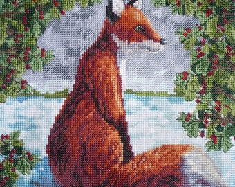 KL41 Brush with a Fox Counted Cross Stitch Kit