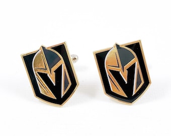 Las Vegas Golden Knights Cuff Links -- FREE SHIPPING with USPS First Class Domestic Mail