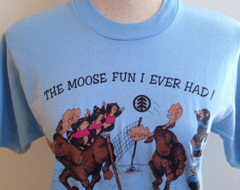 Vintage 1989 Maine Moose Boise Cascade Tshirt