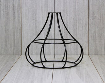 Wire lampshade etsy metal lamp shade industrial greentooth Choice Image