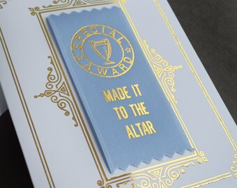 Made It To The Altar Ribbon Card