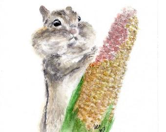 Harvest Time - watercolour fine art print
