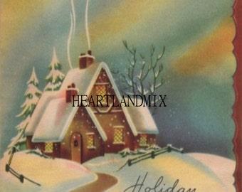 Home for the Holidays Vintage Christmas Image