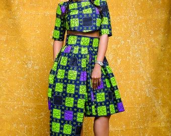 Ore African print Ankara set (Skirt and crop top)