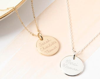Personalized Motto Necklace - Gift for moms, girlfriends, grandmothers, teens, Christmas, Mother's Day, Valentine - hand-engraved in London