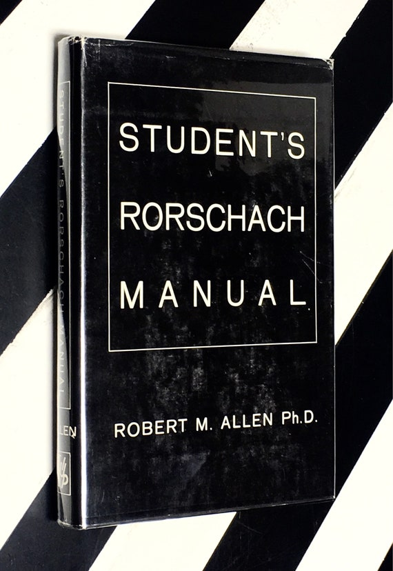 Student's Rorschach Manual by Robert M. Allen, Ph.D. (1966) hardcover book