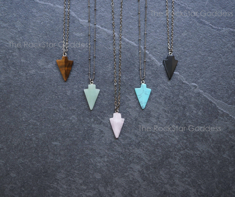 Arrowhead necklace arrowhead jewelry silver arrowhead zoom mozeypictures Gallery