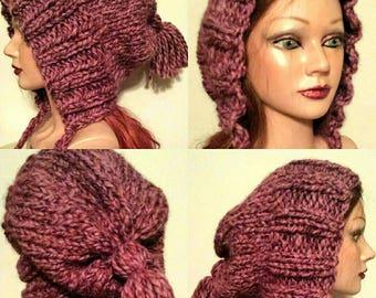 PDF Knitting PATTERN for Split-brim Slouchy Hat