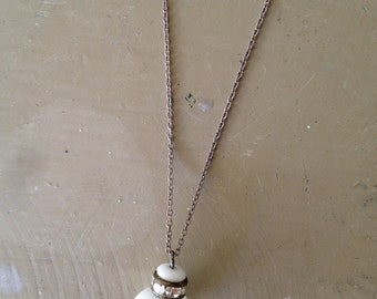 The Little Acorn Sterling Silver Glass and Crystal Necklace