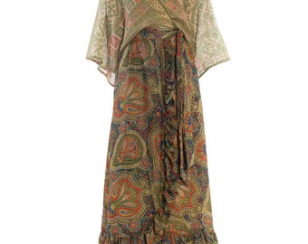 Morhpew Lab Paisley Wrap Dress With Ruffle Size: FR