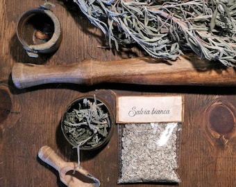 White sage, 5 sachets of natural incense