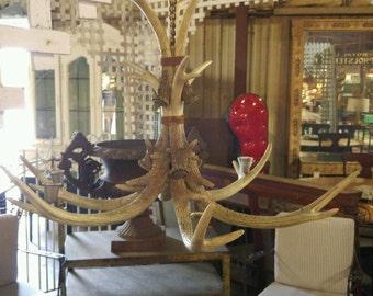 Antler chandelier etsy antler chandelier aloadofball Choice Image
