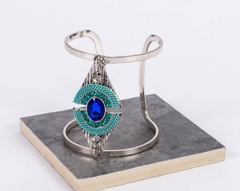 Boho Deep Blue Sea Cuff